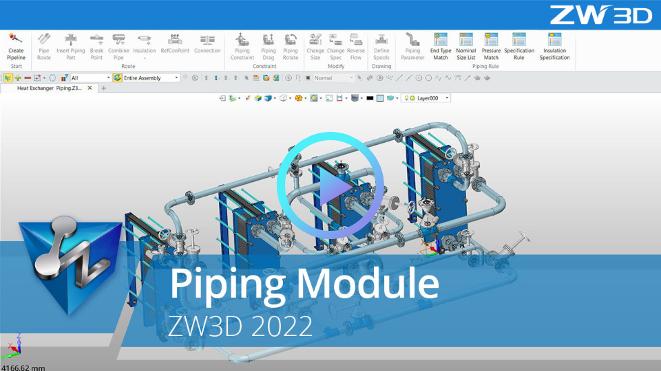ZW3D 2022 piping